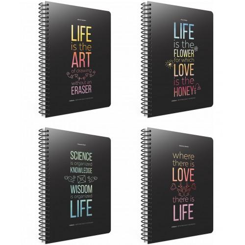 LIFE BOOK Σπιράλ τετράδιο B5 (17χ25) 3Θ