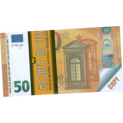MONEY NOTES 50€ (μπλοκάκι)