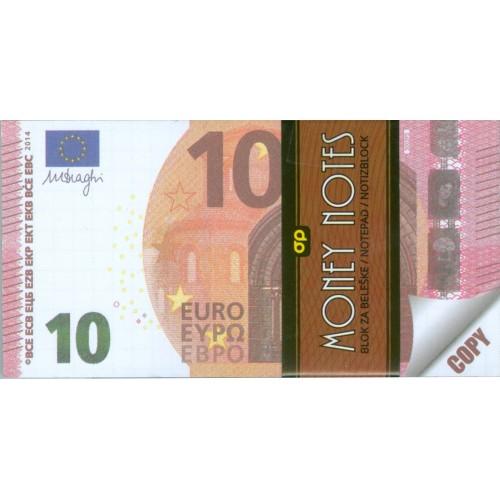 MONEY NOTES 10€ (μπλοκάκι)