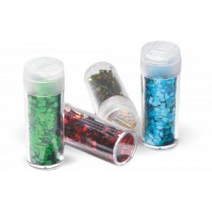 Σκόνη glitter των 15 g. ποικιλία 12 χρωμάτων