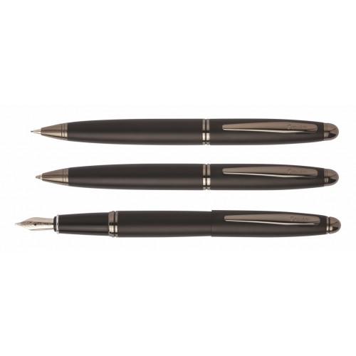 Σετ δώρου με πένα, ballpoint & μηχανικό μολύβι 88 KNIGHT μαύρο ματ