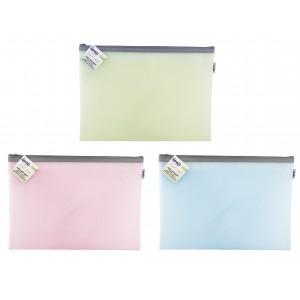 Φάκελος με φερμουάρ pastel mesh  A4