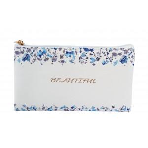 Μολυβοθήκη Blue Flowers 12x21cm