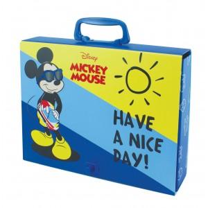 Τσάντα από σκληρό χαρτόνι με χερούλι Mickey 23x31,5x55mm