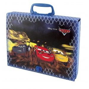Τσάντα από σκληρό χαρτόνι με χερούλι Cars 23x31,5x55mm