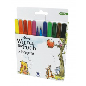 Μαρκαδόροι 12 χρωμάτων Winnie the Pooh 2,3mm