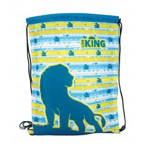 Σακίδιο γυμναστικής με κορδόνια Lion King 44x33cm