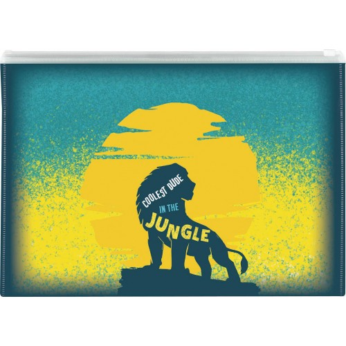 Φάκελος ΡΡ με φερμουάρ Lion King Α4