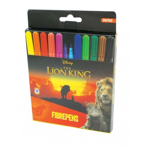 Μαρκαδόροι 12 χρωμάτων Lion King 2,3mm