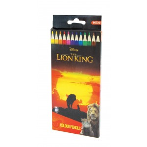 Ξυλομπογιές 12 χρωμάτων Lion King 3mm