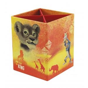 Μολυβοθήκη 4 θέσεων από σκληρό χαρτόνι Lion King